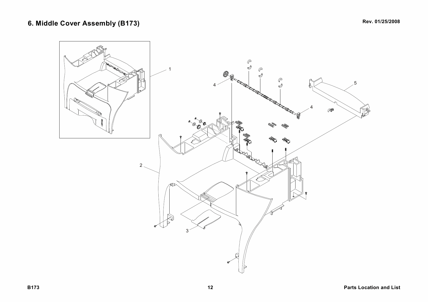 RICOH Aficio AC104 B173 Parts Catalog